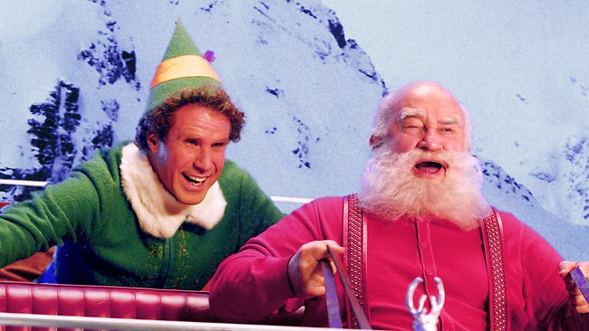 Buddy with Santa in Elf 2003