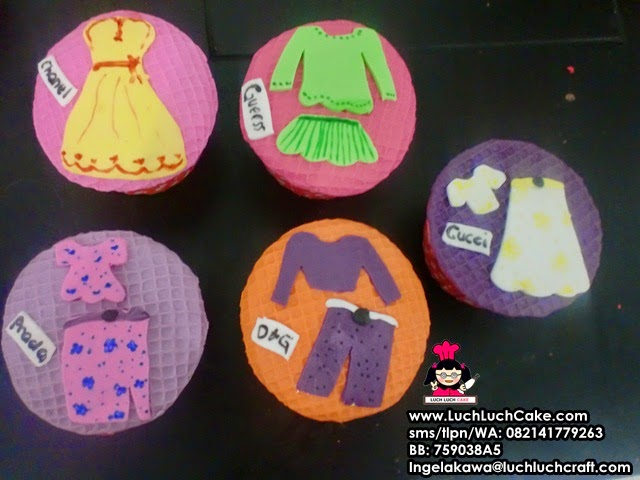 Cupcake Souvenir Ultah Tema Fashion