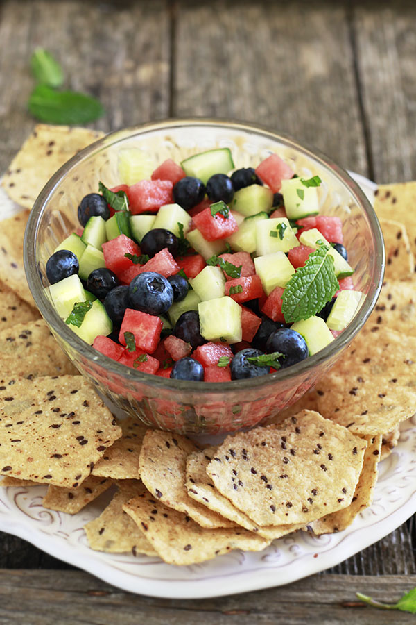 Crunchy Cantaloupe And Blueberry Salad Recipes — Dishmaps