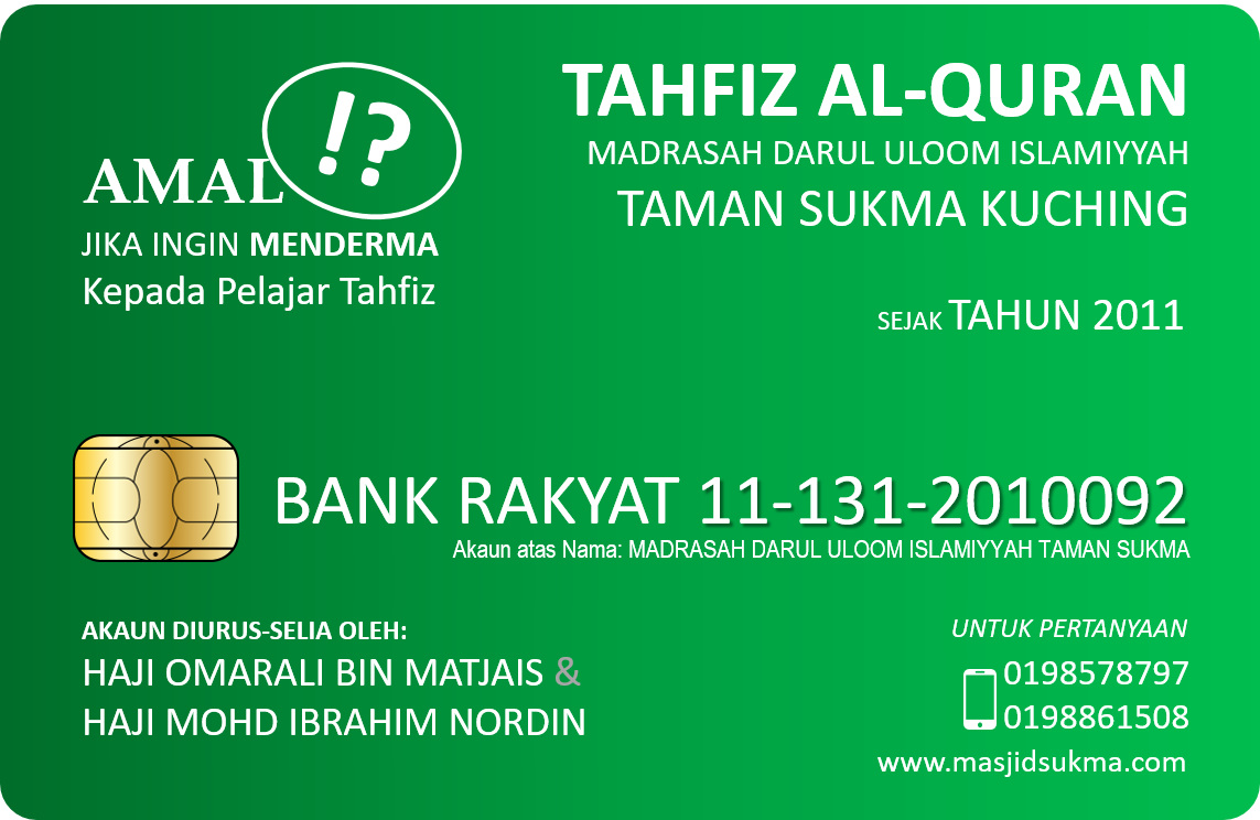 Memohon Sumbangan untuk Tahfiz