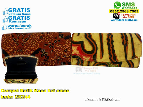 Dompet Batik Kaca List Emas