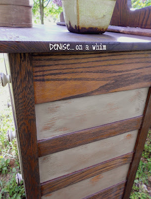 KarlyesAntiqueDresser6 Guest Post: Antique Dresser Refinish from Denise&hellip;On a Whim