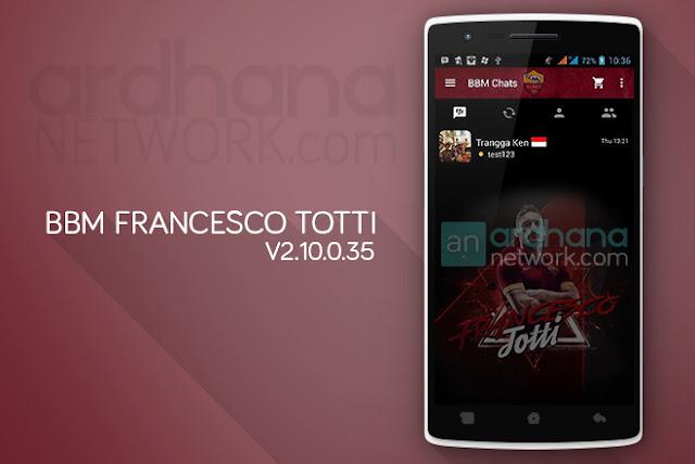 BBM Francesco Totti - BBM Android V2.10.0.35