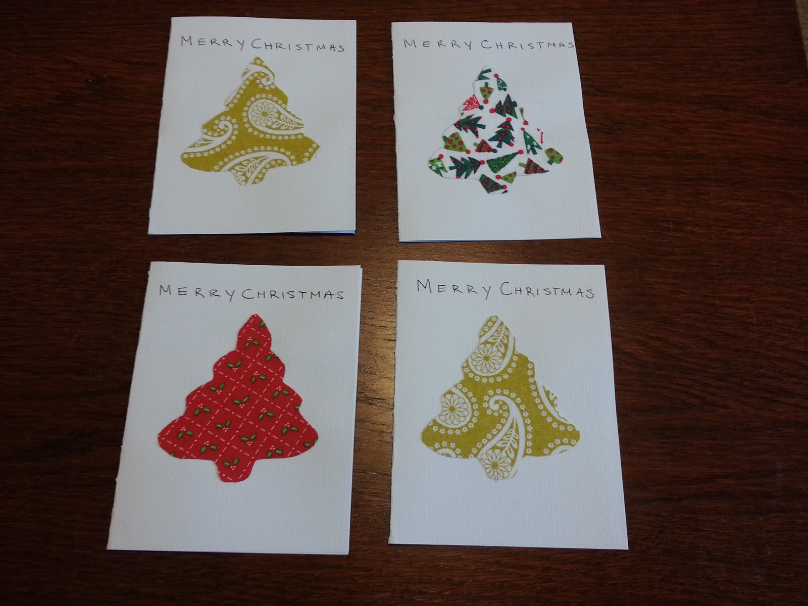 Quinn Stitch: How to make: Fabric Cutout Christmas Cards
