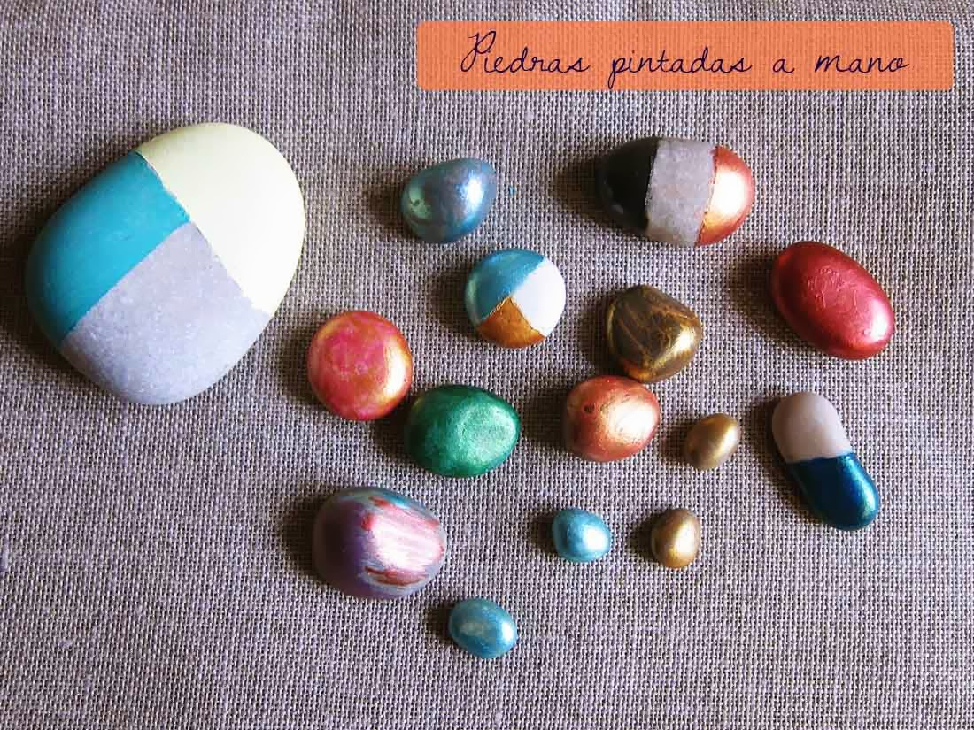 Diy piedras pintadas a mano geometr as recortables Piedras pintadas a mano