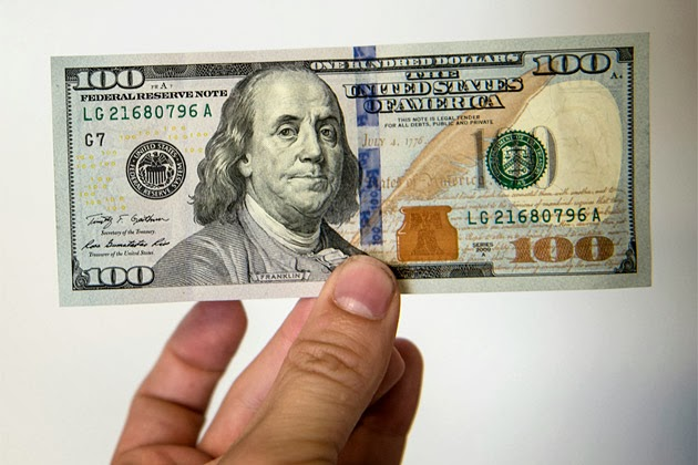 Nova Nota de Cem 100 Dolares ainda com Benjamin Franklin e mais Segura
