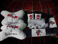 Bantal Mobil set spiderman