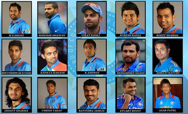 Team India against South Africa in ICC Cricket World Cup 2015