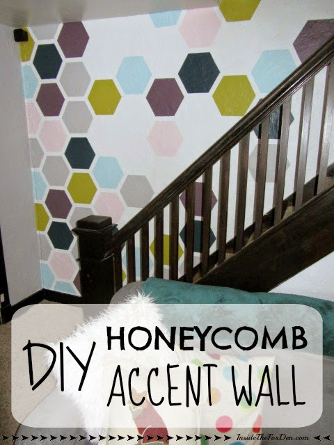 honeycomb-accent-wall diy
