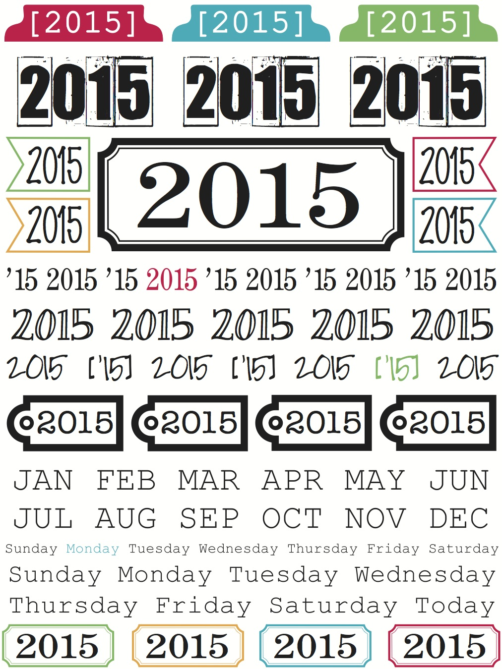 SRM Stickers BLog - New Product Reveal Stickers - #stickers #clear #calendar #2015