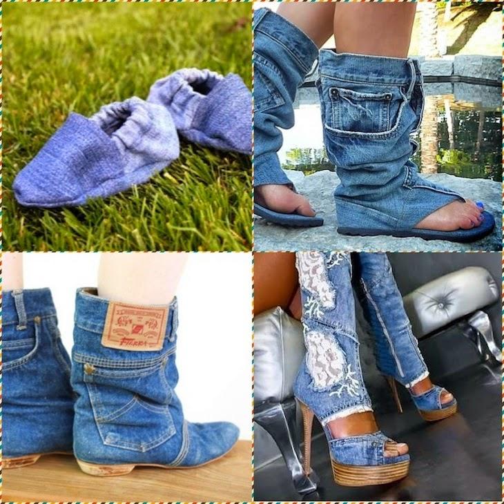 Фото джинсовой обуви своими руками