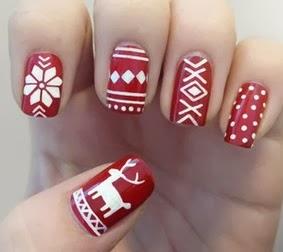 Modelos de unhas para usar no natal 2013