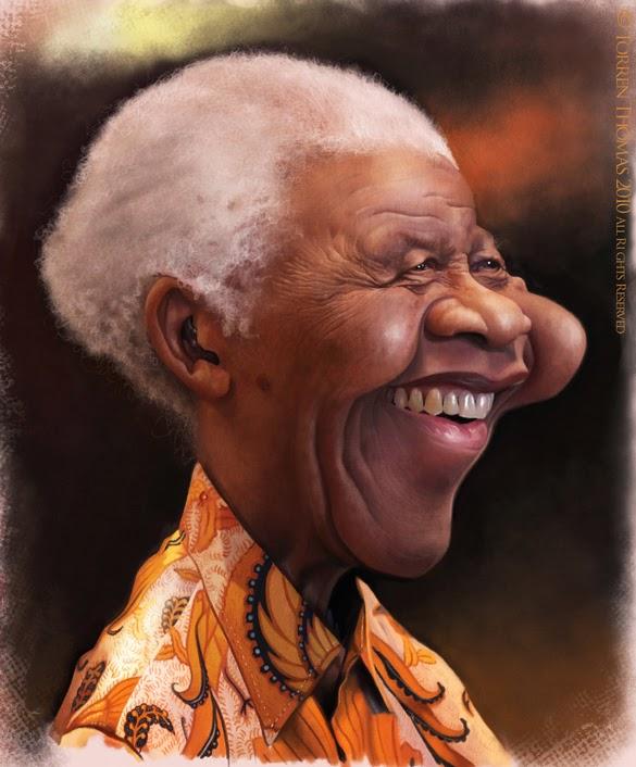 Nelson Mandela - Caricatura