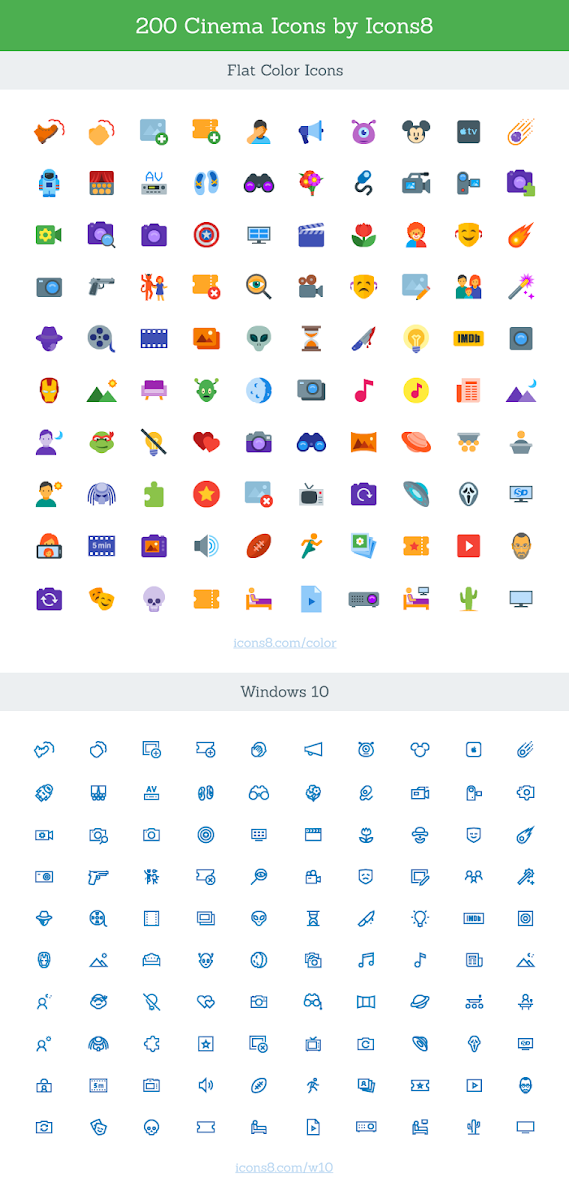 Free SVG Cinema Icon Set