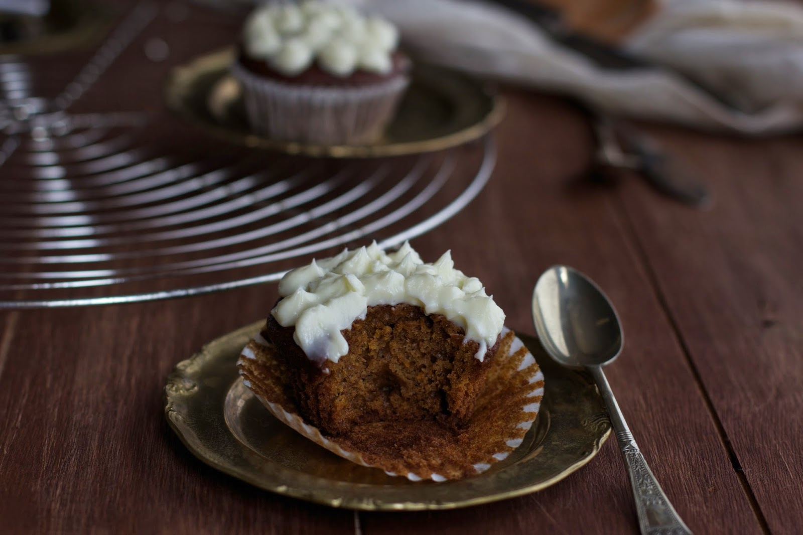 Spiced Pumpkin Cupcake with Cream Cheese Frosting
