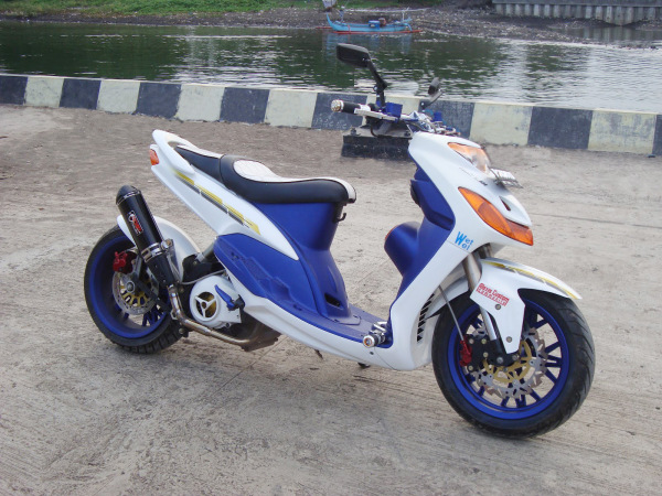 Top modifikasi spakbor depan mio sporty