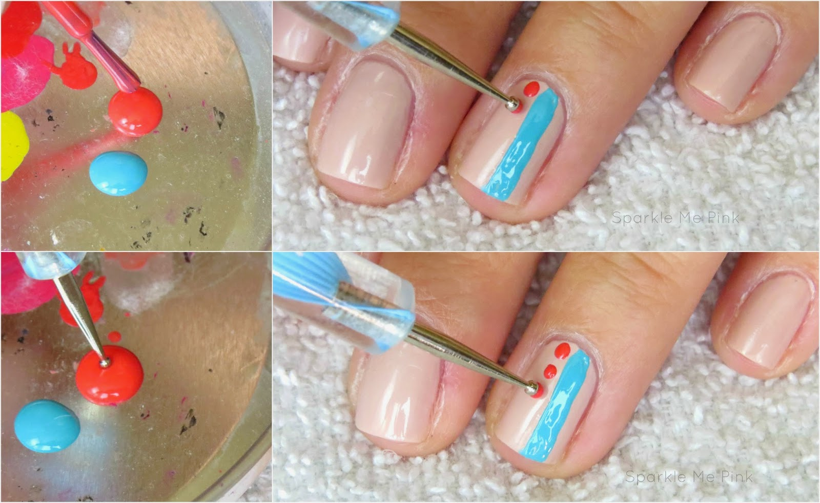 Sparkle me pink easy beginner nail art tutorial then with the third shade and a dotting tool dot three medium sized dots on the center of the nail if this is your first time using a dotting tool you can prinsesfo Gallery