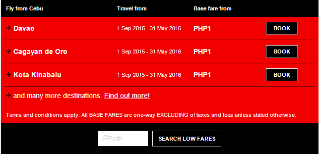 Air Asia Airlines: RED HOT PISO SALE 2015!
