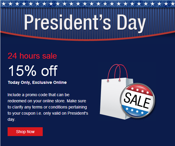 Campaigner Email Marketing President's Day Template