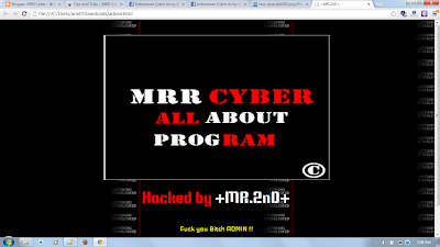 MRR Cyber ~ Script Deface