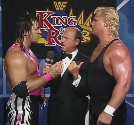WWF / WWE King of the Ring 1993: The Narcissist Lex Luger strikes a pose before facing off against Tatanka