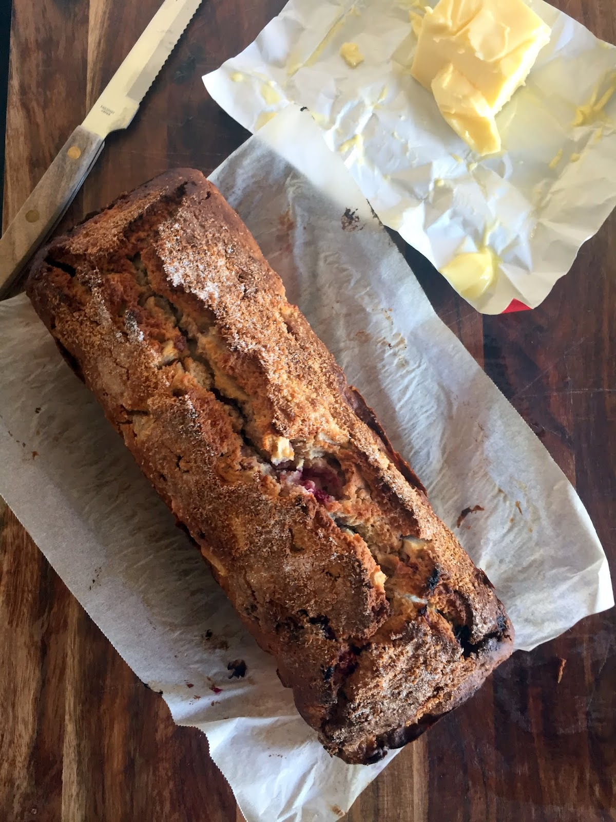 Pear, Raspberry and Coconut Loaf Cassie Cakes