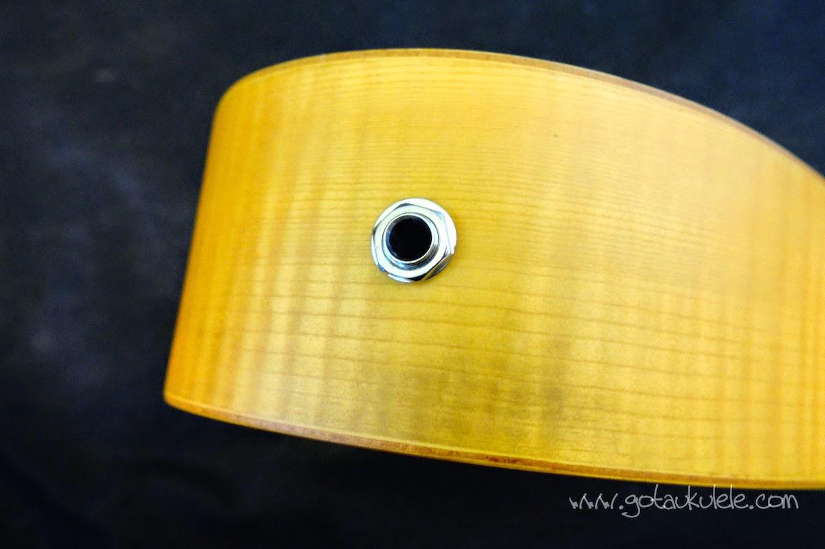 Lani LC-55MOCEQ Concert Ukulele jack socket