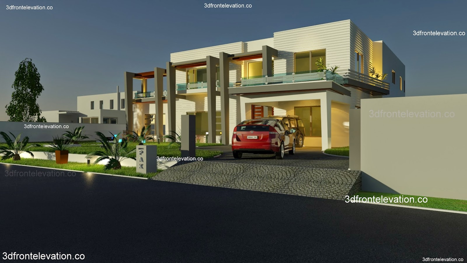 House design karachi - 2000 Sq Yard House Plan 3d Front Elevation In Dha Phase 5 Karachi Pakistan