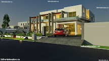 3D Front Elevation House Plans