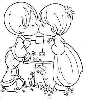 Del día del amor y la amistad – 14 de febrero para colorear