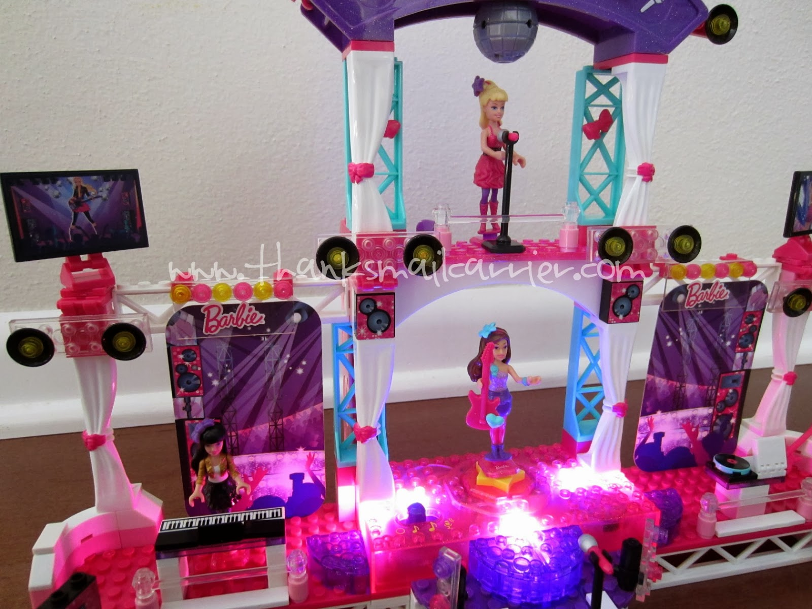 Mega Bloks Barbie Stage lights sounds