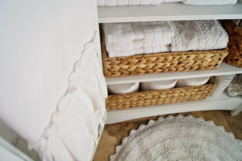 Small-Bathroom Linen Cabinet title=