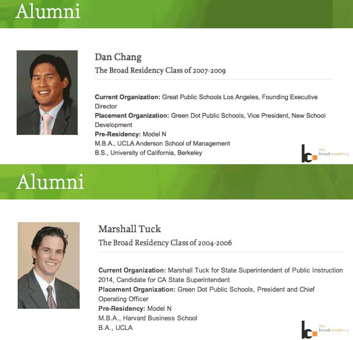 Corporatists Dan Chang and Marshall Tuck