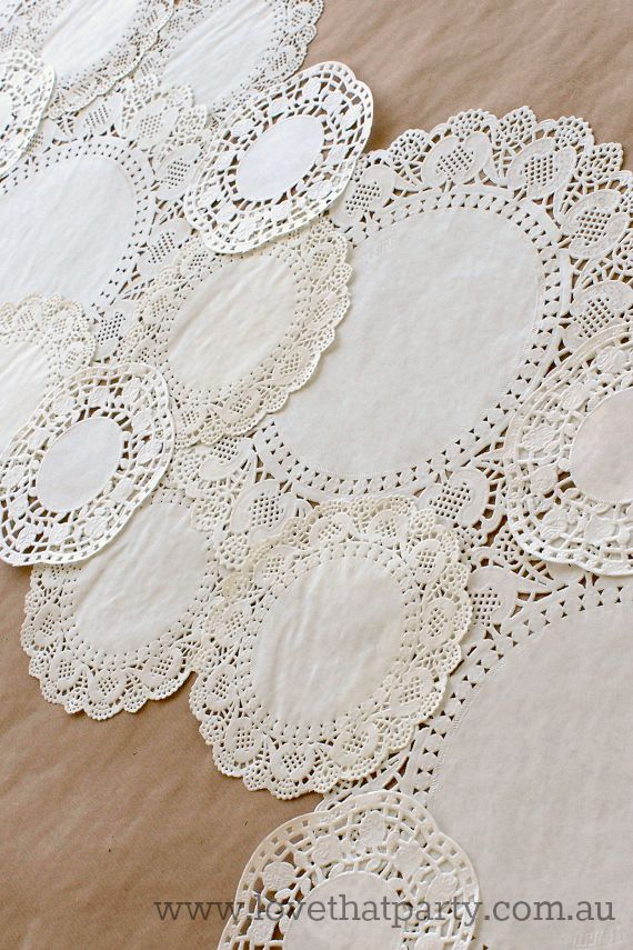 paper doily diy party craft birthday table runner diy wedding idea