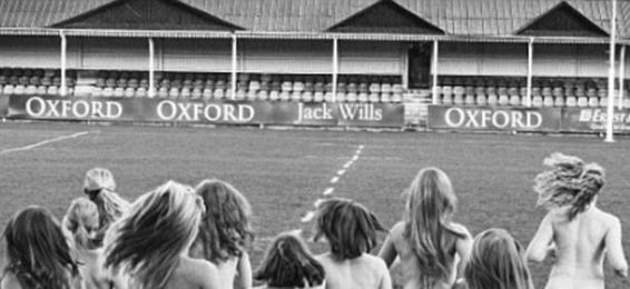 Oxford University Female rugby players strip down for