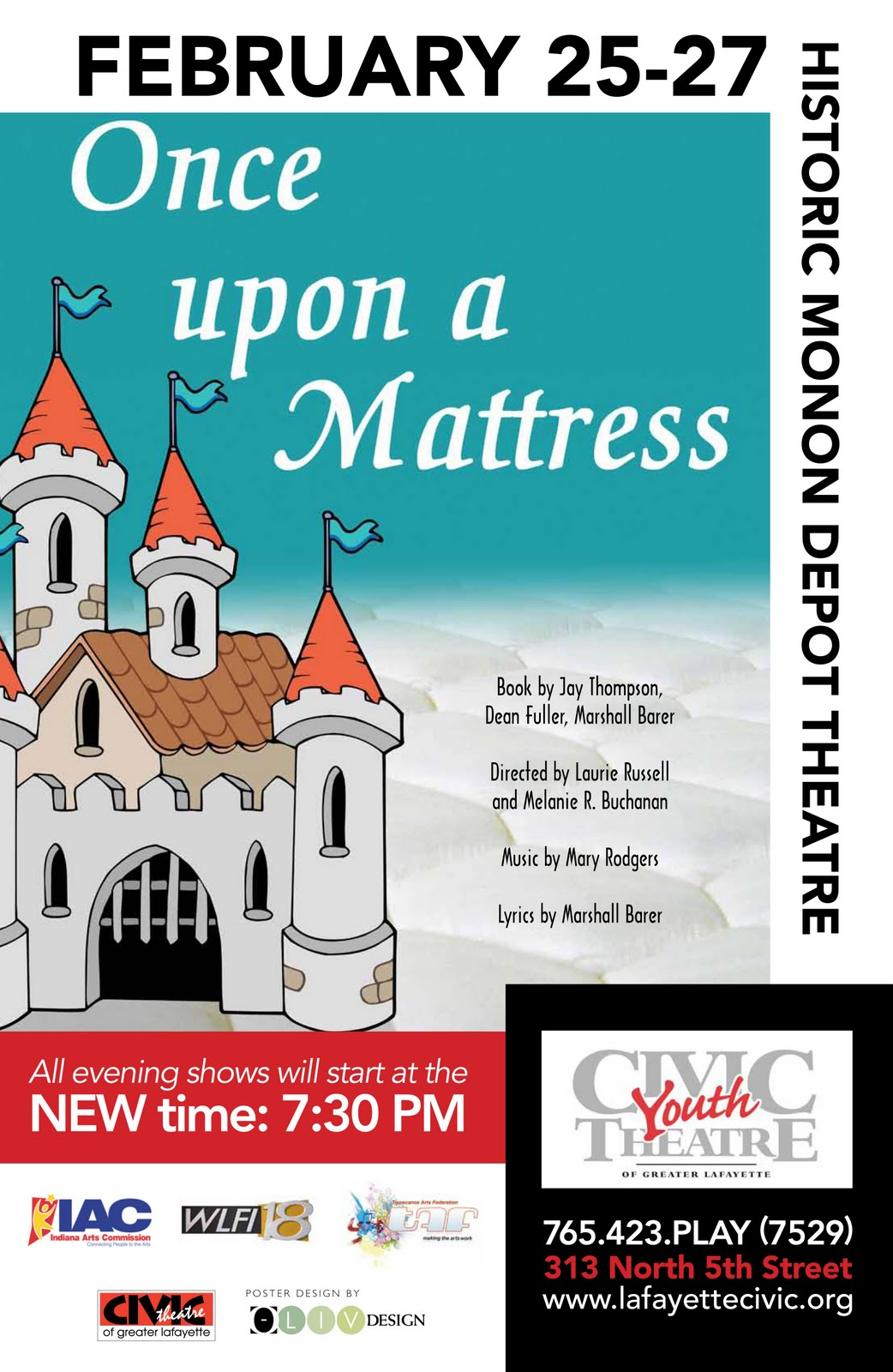 For more information about the show or to order tickets, call 765-423-7529  or visit Civic Theatre's website.
