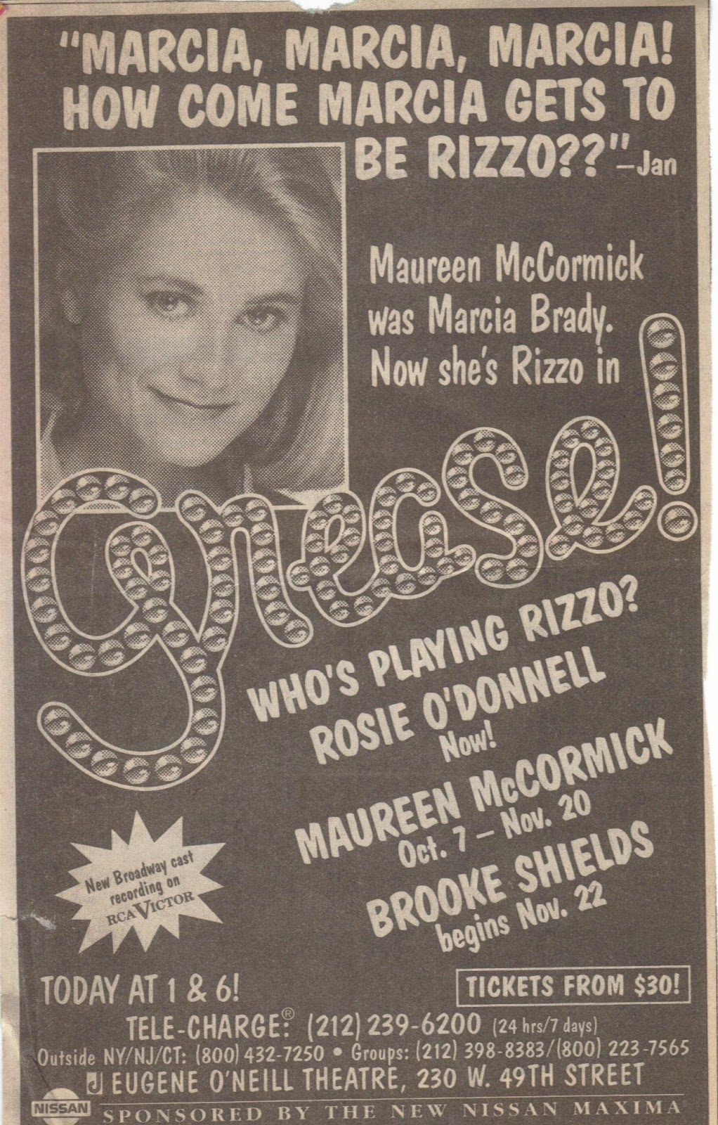 Image result for Maureen McCormick grease
