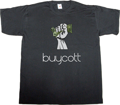 boycott buycott app iphone useless capitalism useless consumer society useless economics t-shirt ephemeral-t-shirts