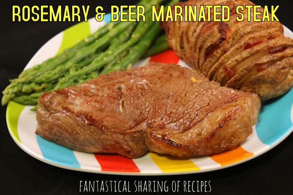 Rosemary & Beer Marinated Steak - steak bursting with the rich, savory flavors of dark beer and rosemary | www.fantasticalsharing.com