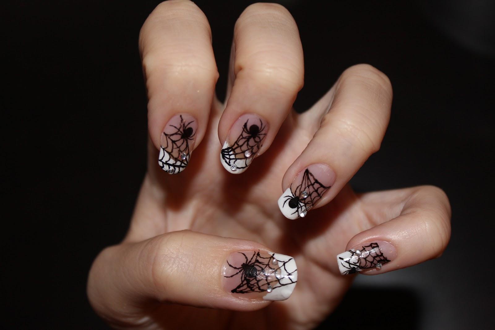 Nail Design: Nail Design - Spider on web. Nail art pen. Home made ...