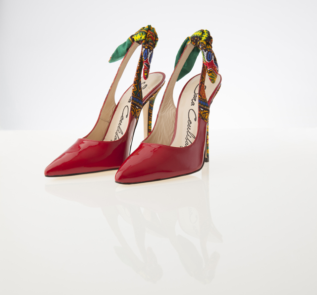 #African print pumps- see more on ciaafrique.com