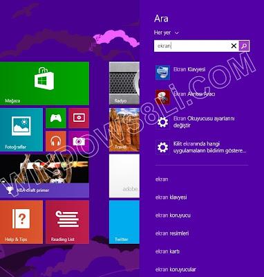 Windows 8.1 Akıllı Arama