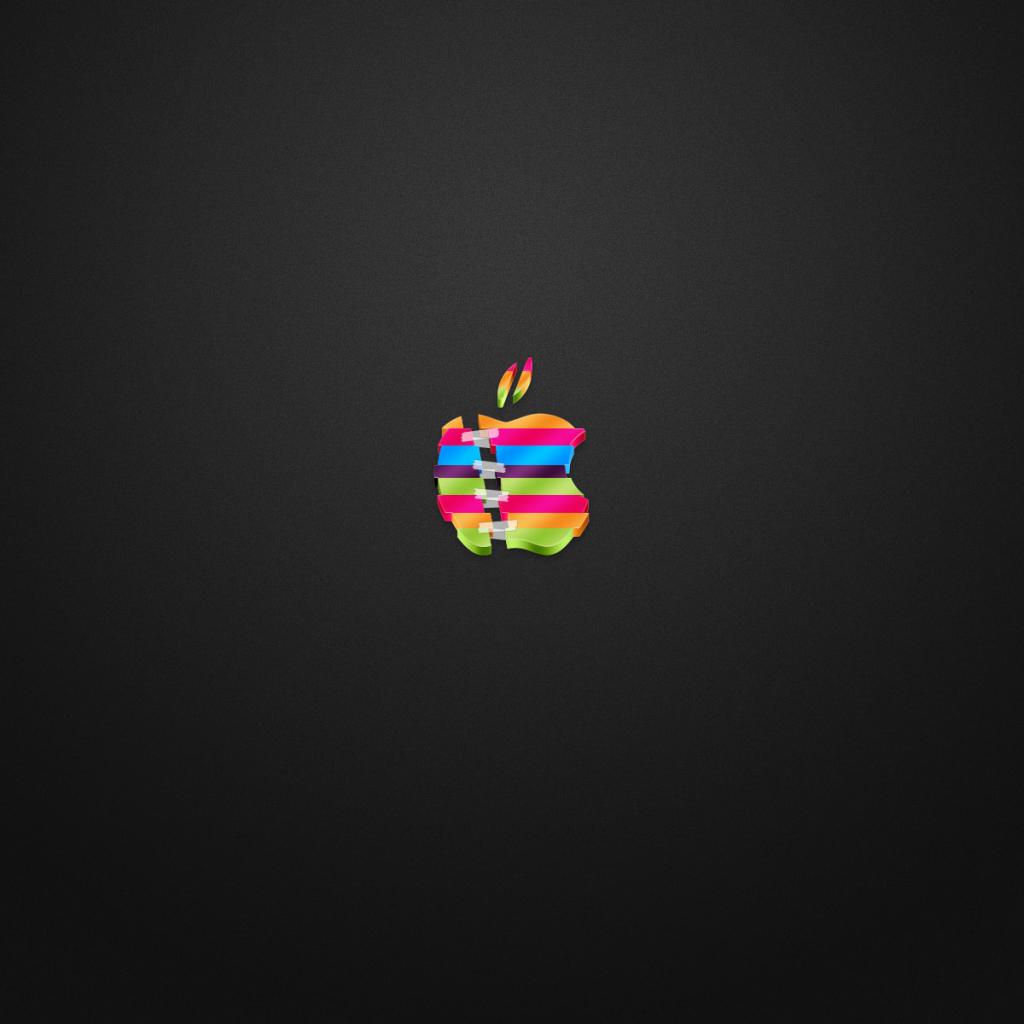 colored apple logo ipad wallpaper free ipad retina hd