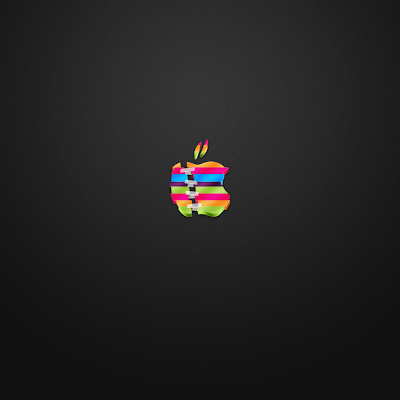 Colored Apple Logo iPad Wallpaper