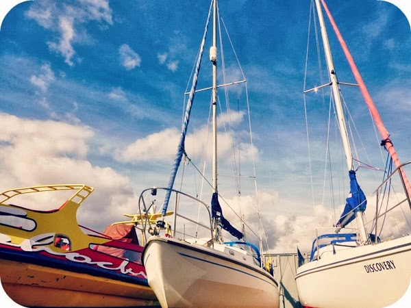 Colourful sailing boats