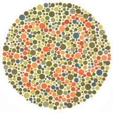 Prueba de daltonismo - Carta de Ishihara 32