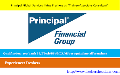 Principal Global Services hiring Freshers