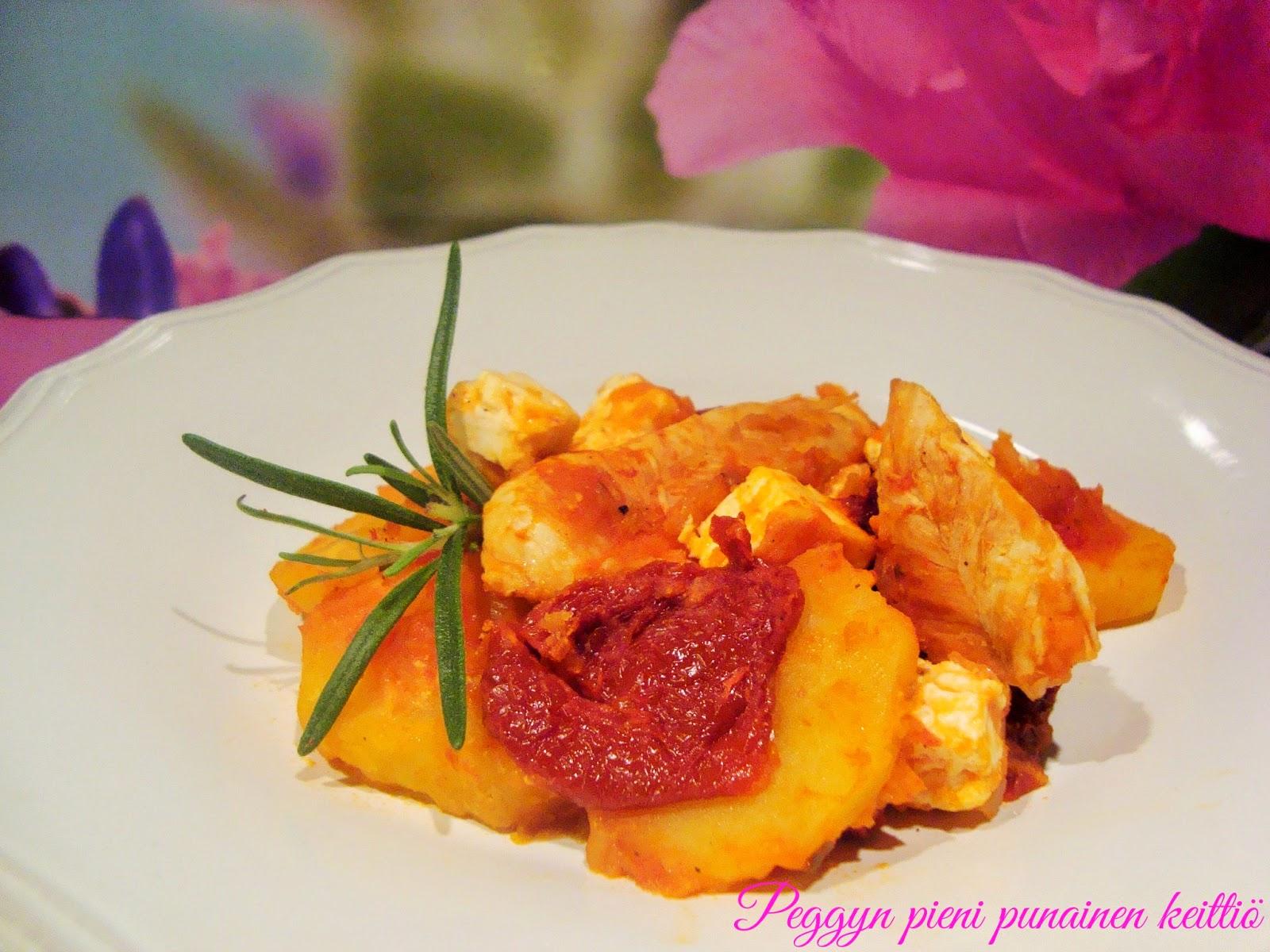 Välimeren kana perunavuoka  Peggyn pieni punainen keittiö
