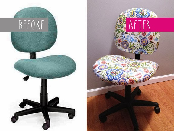 reupholster office chair. brilliant office i did quite a bit of shopping around looking for new desk chair my  remodeled office considered variety styles and even craigslist makeover  intended reupholster office chair b