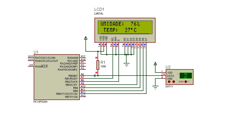 PIC: DHT11 - Sensor de Umidade e Temperatura
